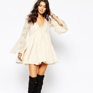 💗 Free People With Love From India Lace Dress